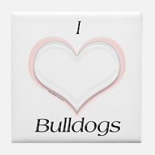 Bulldog Heart Tile Coaster