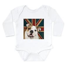 English Bulldog Long Sleeve Infant Bodysuit