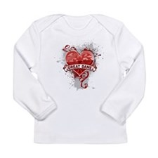 Heart Great Dane Long Sleeve Infant T-Shirt