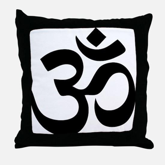 Om Aum Throw Pillow