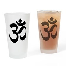 Om Aum Drinking Glass