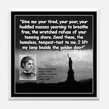Lazarus Liberty Quote 2 Tile Coaster