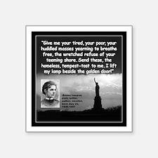 """Lazarus Liberty Quote 2 Square Sticker 3"""" x 3"""""""