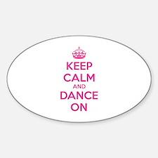 Keep calm and dance on Decal