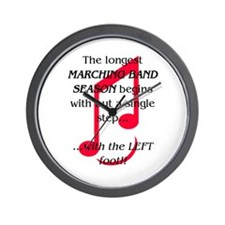 The Longest Season Marching Band Wall Clock