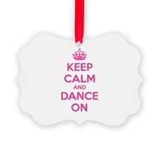 Keep calm and dance on Ornament