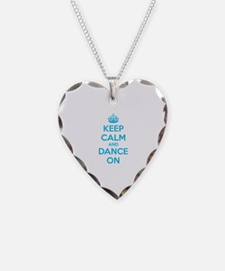 Keep calm and dance on Necklace