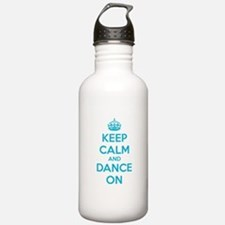 Keep calm and dance on Sports Water Bottle