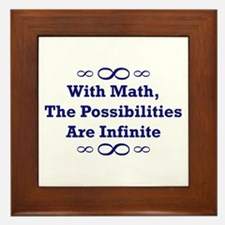 With Math, The Possibilities  Framed Tile