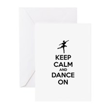 Keep calm and dance on Greeting Cards (Pk of 10)