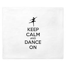 Keep calm and dance on King Duvet