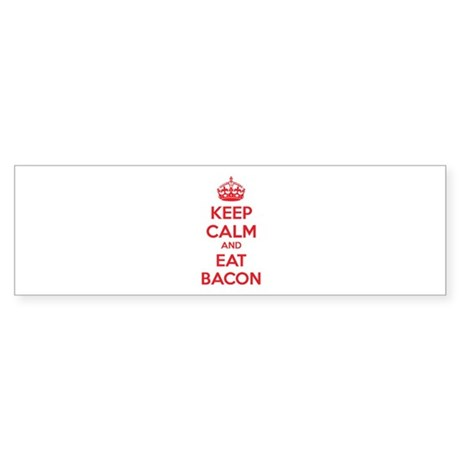 Keep calm and eat bacon Sticker (Bumper)