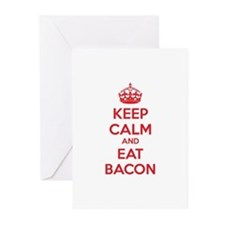 Keep calm and eat bacon Greeting Cards (Pk of 20)