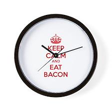 Keep calm and eat bacon Wall Clock