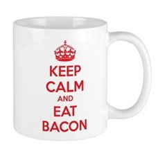 Keep calm and eat bacon Mug