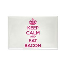 Keep calm and eat bacon Rectangle Magnet (100 pack