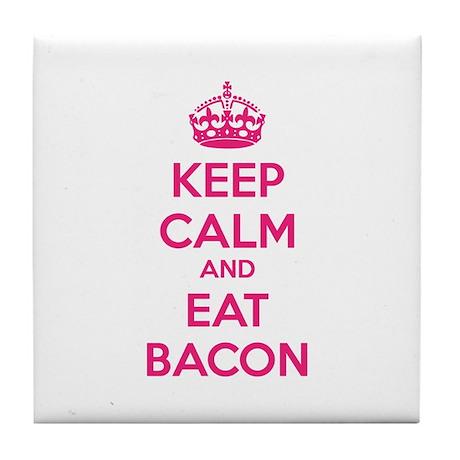 Keep calm and eat bacon Tile Coaster
