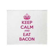 Keep calm and eat bacon Throw Blanket