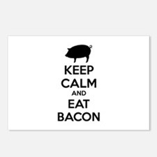 Keep calm and eat bacon Postcards (Package of 8)