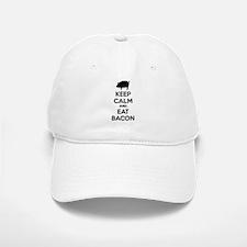 Keep calm and eat bacon Baseball Baseball Cap