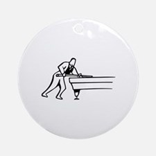 Pool Game Ornament (Round)