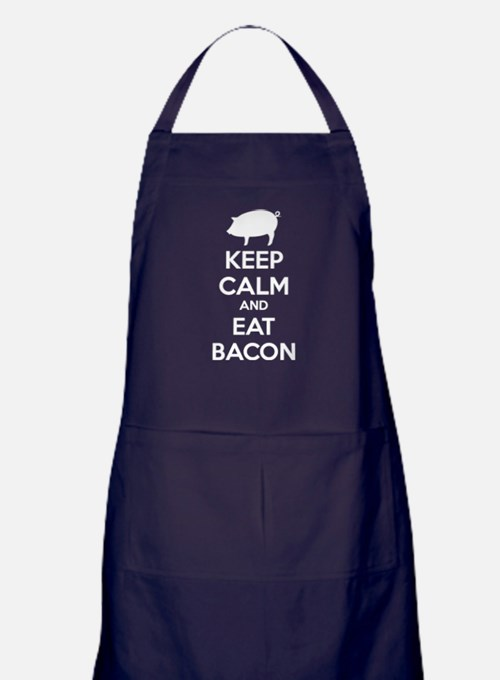 Keep calm and eat bacon Apron (dark)