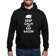 Keep calm and eat bacon Hoodie