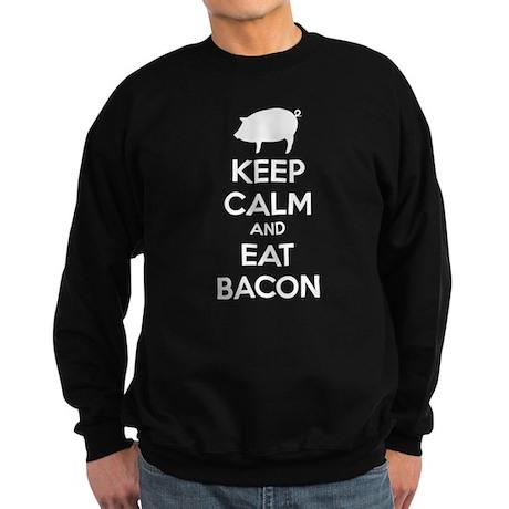 Keep calm and eat bacon Sweatshirt (dark)