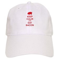 Keep calm and eat bacon Baseball Cap