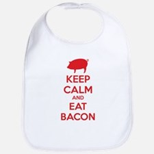 Keep calm and eat bacon Bib