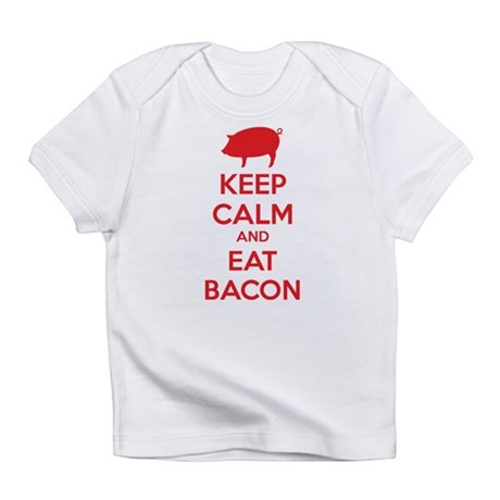 Keep calm and eat bacon Infant T-Shirt