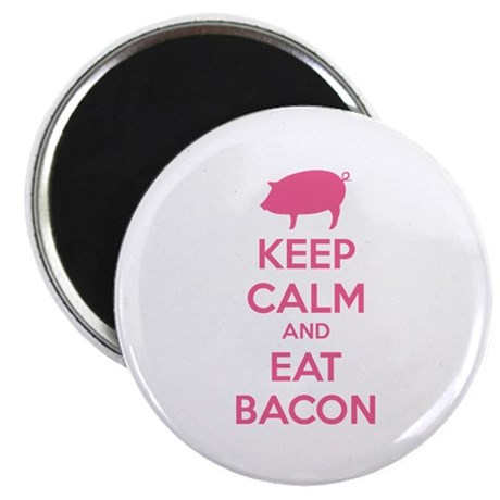 """Keep calm and eat bacon 2.25"""" Magnet (100 pack)"""