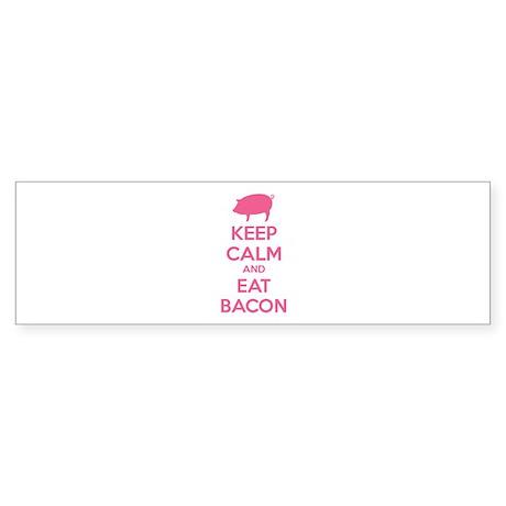 Keep calm and eat bacon Sticker (Bumper)