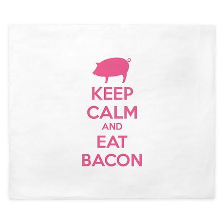 Keep calm and eat bacon King Duvet