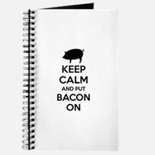 Keep calm and put bacon on Journal