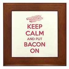 Keep calm and put bacon on Framed Tile