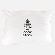 Keep calm and put bacon on Pillow Case