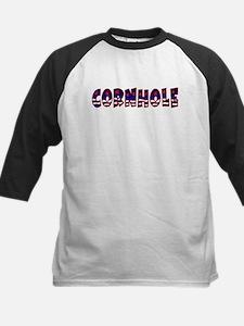 Patriotic Cornhole Kids Baseball Jersey