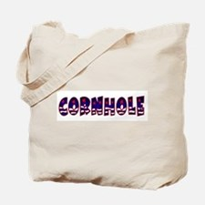Patriotic Cornhole Tote Bag