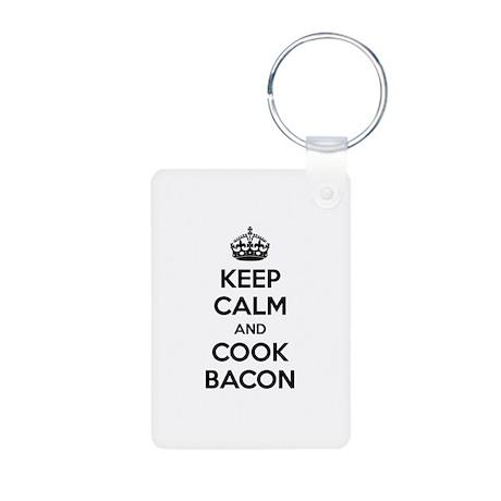 Keep calm and put bacon on Aluminum Photo Keychain