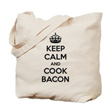 Keep calm and cook bacon Tote Bag
