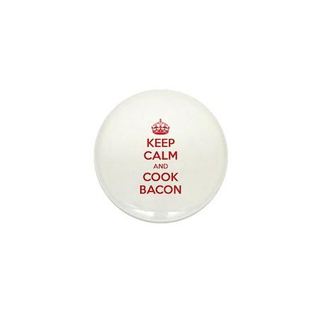 Keep calm and cook bacon Mini Button