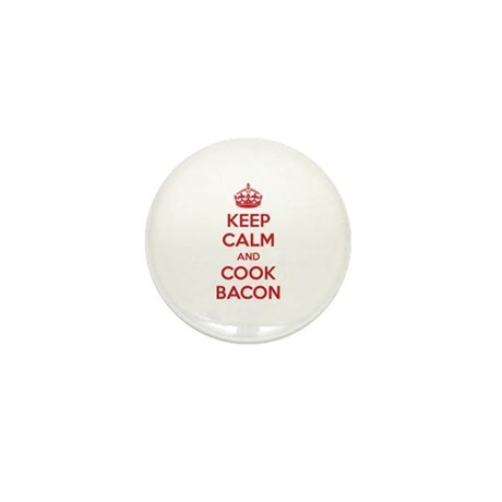 Keep calm and cook bacon Mini Button (10 pack)