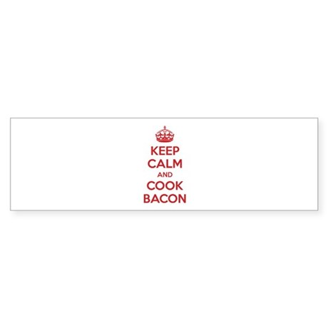 Keep calm and cook bacon Sticker (Bumper)