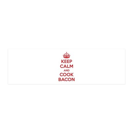 Keep calm and cook bacon 21x7 Wall Peel
