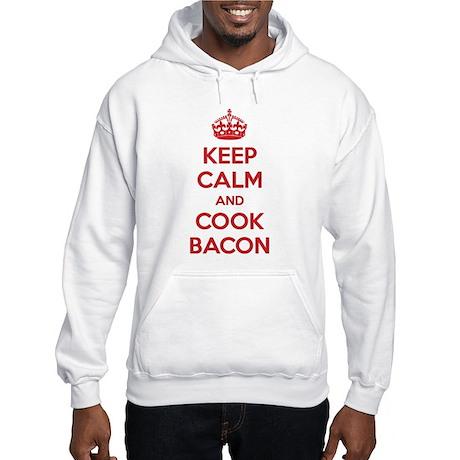 Keep calm and cook bacon Hooded Sweatshirt