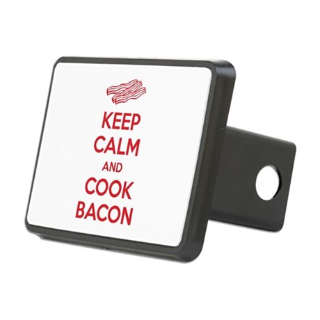 Keep calm and cook bacon Rectangular Hitch Cover