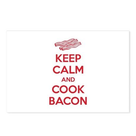 Keep calm and cook bacon Postcards (Package of 8)
