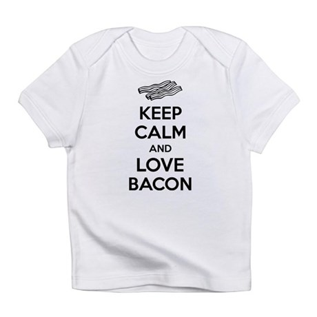 Keep calm and love bacon Infant T-Shirt