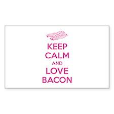 Keep calm and love bacon Decal